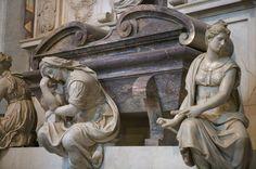 Giorgio Vasari e aiuti - Tomba di Michelangelo, dettaglio - Basilica di Santa Croce - Firenze