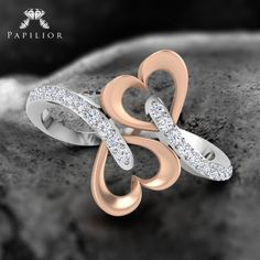 Attract Love Ring symbolize a good relationship and union of two individuals. #diamondring #buydiamondring #buydiamondlovering #diamondringprice #diamondringdesign