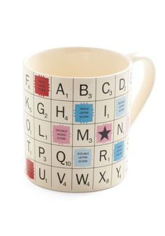 To the Letter Mug - White, Vintage Inspired, Quirky, Scholastic/Collegiate, Dorm Decor, Best Seller, Best Seller, Top Rated