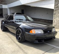 """Detail Day Round 2: Fox Mustang. @robby_proto knows black. @maximummotorsports @hre_wheels @bbiautosport @continental_tire @cjponyparts @rdbla"""