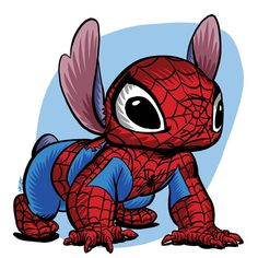 Stitch already climbs walls. now he has Spidey sense to go with it! Featuring Stitch dressed as Spider-Man this piece Spiderman Drawing, Spiderman Art, Cute Disney Drawings, Cute Drawings, Couture Disney, Lilo And Stitch Quotes, Stitch Drawing, Fan Drawing, Cute Stitch
