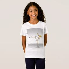 Girl dancing ballet yet its glamor T-Shirt - diy cyo customize create your own personalize