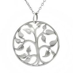 @Overstock.com - Dial up the look of your favorite outfit with this polished sterling silver necklace. The gorgeous tree-of-life pendant hangs suspended from an 18-inch chain, making it the perfect length for many different looks and clothing styles.http://www.overstock.com/Jewelry-Watches/Tressa-Sterling-Silver-Tree-of-Life-20-mm-Necklace/5169904/product.html?CID=214117 $34.99