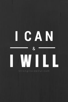 """""""I can & I will"""" from Mantras to Lighten The Darkness"""