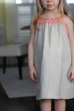 """the Smock Top dress. - 12m - 6y - """"This dress is sleeveless with a loose fitted body. Neckline is embellished with a mock smocking look made from elastic (no shirring). adjustable ties on shoulders"""" - 6$"""