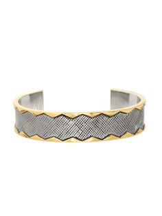 Silver Wavelength Cuff Bracelet by House of Harlow 1960 at Gilt