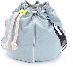 Meredith Wendell Denim Circle Handbag