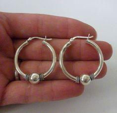 Sterling Silver Hoop Earrings 5 Grams by onetime on Etsy, $6.25