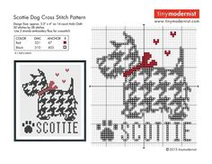Point de croix -cross stitch ❤️✼❤️✼Scotty dog