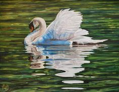 swans in fine art   Swan Painting by Henry David Potwin - Swan Fine Art Prints and Posters ...