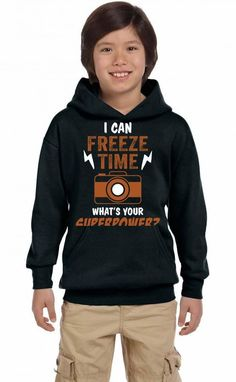 I Can Freeze Time, What Is Your Superpower? Youth Hoodie