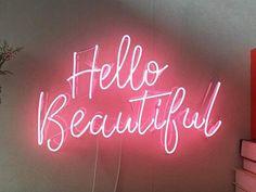 Beauty Salon Interior, Salon Interior Design, Neon Light Signs, Led Neon Signs, Cool Neon Signs, Boutique Interior, Rosa Vintage, Neon Rosa, Neon Signs Quotes