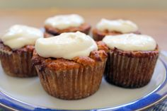 Amazing GAPS-Friendly Carrot Cake Cupcakes with Yogurt Cheese Frosting