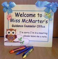 custom welcome guidance counseler office door sign  by kasefazem, $15.99