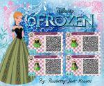 Frozen QR code: Anna's Coronation Dress by Rasberry-Jam-Heaven