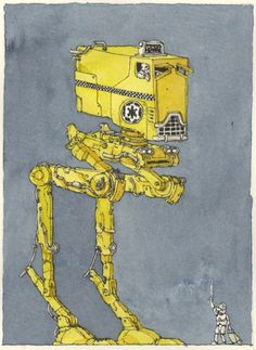 Star Wars Vehicles as Buses and Taxis by Mattias Adolfsson -
