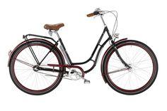 Retrofahrrad in schwarz/ weinrot, Made in Germany Dynamo, Vintage Style, Vintage Fashion, Retro, Bicycle, Shopping, Drum, Black, Bike