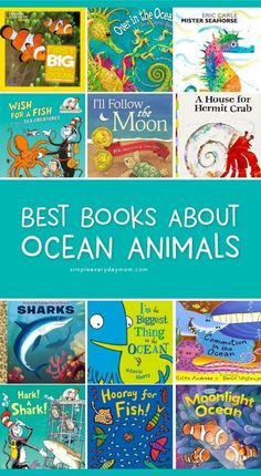 Enhance your ocean unit studies by reading some of the best kids books about ocean animals. These books are fun for kids and talk about seahorses, crabs, sharks and more! Kindergarten Books, Preschool Books, Best Children Books, Toddler Books, Ocean Activities, Preschool Activities, Preschool Learning, Ocean Animals For Kids, Sea Creatures For Kids