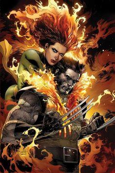 Phoenix & Woverine by Leinil Yu.
