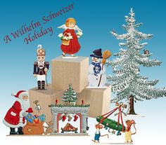 Holiday Collection of Wilhelm Schweizer Pewter Characters