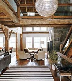 interior of a barn converted to a home