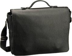 Jost Kopenhagen 2058 Umhängetasche XL Schwarz - Notebooktasche   Tablet