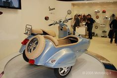 Vespa GTV Sidecar - Rear Right Vespa Gtv, Vespa Special, Sidecar, Scooters, Motorbikes, Motorcycles, Sculptures, Classic, Photography