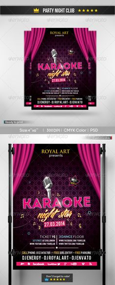 Karaoke Party Flyer Template Is Very Modern Psd Flyer With Glamour