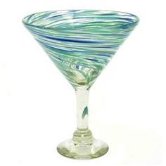 Pacifica Martini Glass (421160055), Recycled Glasses & Drinking Glasses| Colored Glassware – Individual Pieces & Drinking Glass Sets
