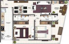 Apartamento para Venda, Praia Grande / SP, bairro Jardim Guilhermina, 3 dormitórios, 2 suítes, 3 banheiros, 2 garagens