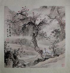 """http://maimaiwenhua.com/tienda/comprar-acuarela-tradicional-china/bosque-arte-chino    Acuarela tradicional china, """"En el bosque durante la Festividad de los Muertos"""" (林壑清明 ling he qing ming). Realizada a mano sobre papel de arroz y montada sobre soporte de tela, lista para ser enmarcada.    Representa a un poeta de la antigüedad solitario, en bosque, durante el Festival Qing Ming (清明) o """"Festival de la Limpieza de las Tumbas"""", el equivalente al Día de Difuntos…"""
