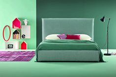 Compact model ideal where space is at a premium. Bed frame flush with mattress.  #dormirebene