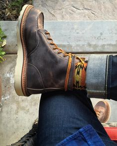 Limited release Concrete Rough and Tough from with Selvedge. Mens Lace Up Boots, Denim Boots, Jeans And Boots, Leather Boots, Wedge Boots, Shoe Boots, Red Wing Boots, Dress With Boots, Dress Shoes