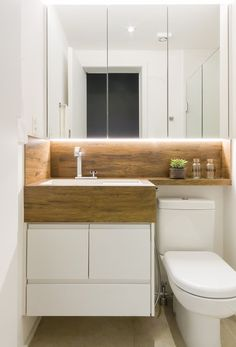 Tiny Bathroom Remodel – Designing a tiny home might need an extra careful effort. Small mistakes can make the home either uncomfortable or not very . Bathroom Design Small, Diy Bathroom Decor, Bathroom Interior Design, Budget Bathroom, Ideas Baños, Wc Decoration, Open Plan Kitchen Living Room, Tiny Bathrooms, French Home Decor