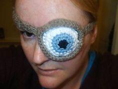 Mad Eye Patch  - free Harry Potter crochet patterns