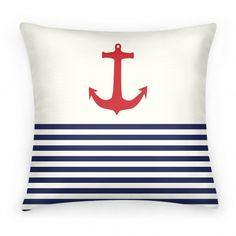Anchors away. This trendy nautical design is perfect for any home decor.