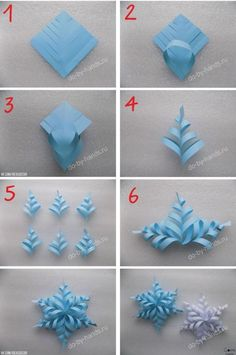 Image about diy in 🌻 Crafts 🌻 by 💜 Sweet Cabello 💜 - Holiday wreaths christmas,Holiday crafts for kids to make,Holiday cookies christmas, Paper Flowers Craft, Paper Crafts Origami, Flower Crafts, Oragami, Diy Paper, Paper Art, Snowflake Template, Snowflake Craft, 3d Paper Snowflakes