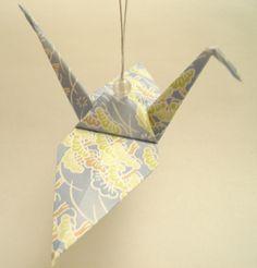Origami hanging crane