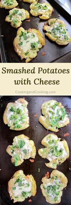Smashed Potatoes with Cheese Recipe OR sweet potato with Parmesan and rosemary Potato Dishes, Potato Recipes, Veggie Recipes, Food Dishes, New Recipes, Vegetarian Recipes, Cooking Recipes, Favorite Recipes, Potato Ideas