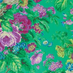 Kaffe Fassett Collective 2015 Philip Jacobs Green Floral Delight