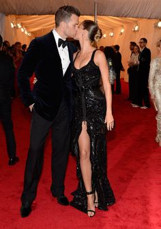 Tom Brady and Gisele Bündchen (in Givenchy) #Met2012