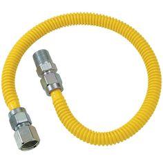 BRASSCRAFT CSSL54-60 Gas Dryer & Water Heater Flex-Line (3-8 OD (1-2 FIP x 1-2 MIP) x 60)