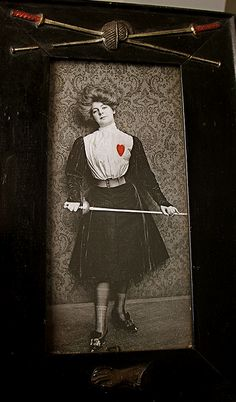 The heart on the uniform served as a target. Repinned by Hub City Fencing Academy of Edison, NJ.