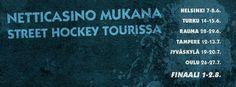 Street Hockey Tour on käynnistymässä ja Netticasino on mukana kiertueella !  #Streethockey #streethockeytour Street Hockey, Helsinki, Tours, Movie Posters, Film Poster, Popcorn Posters, Film Posters, Posters