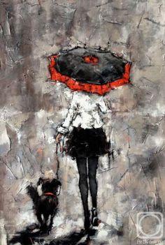 Гунин Александр. Девушка с собачкой