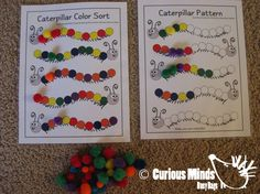 Busy Bag (learning activity) for Toddlers and young children.  Self-contained activity that you can pack and pull out when needed. $5.00, via Etsy.