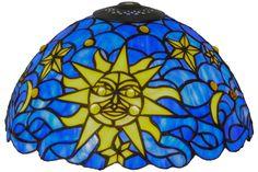 12 Inch W Sun Moon & Stars Shade