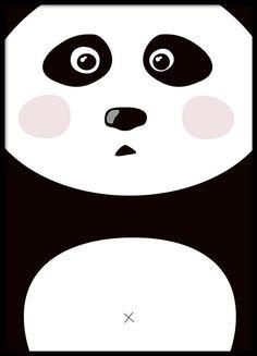 Grafische poster met verbaasde panda, erg schattig. Past mooi in de kinderkamer en kan gematcht worden met onze overige kinderposters. Past mooi samen bij onze andere kinderposter en posters met kindermotieven. www.desenio.nl