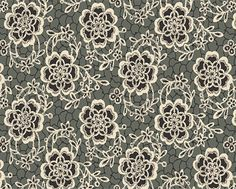 The Dowager's Lace Black - Tissu Andover
