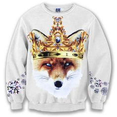 >> Click to Buy << Mr.BaoLong&Miss.GO 2017 Fashion Brand Tshirt 3D Printed The Fox wears imperial crown Shirts Men spring long full sleeve #Affiliate